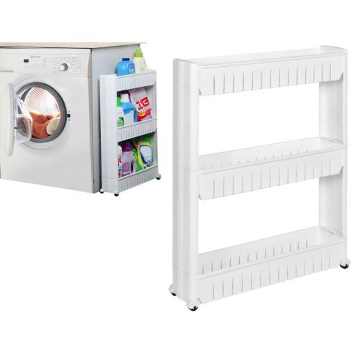 fürdőszobás gördülő szekrény keskeny mozgatható fehér omegamix.hu
